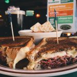 Hot pastrami sandwich at O'Michael's Pub & Grill.